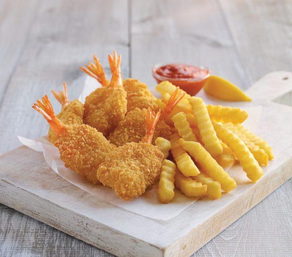 4pc Jump shrimp with fries 1